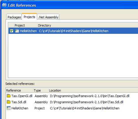 Setting up MonoDevelop to run Tao